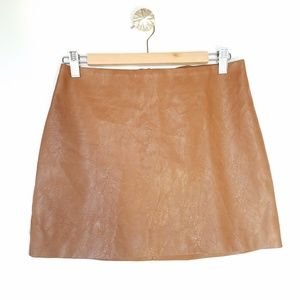 SHEIN faux leather vegan skirt size large